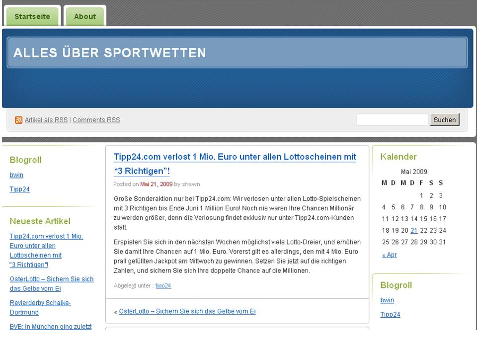 Tipp24-Werbung im Sportwettenblog